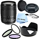 Canon EF-S 18-135mm f/3.5-5.6 IS USM Lens Bundle (White Box)