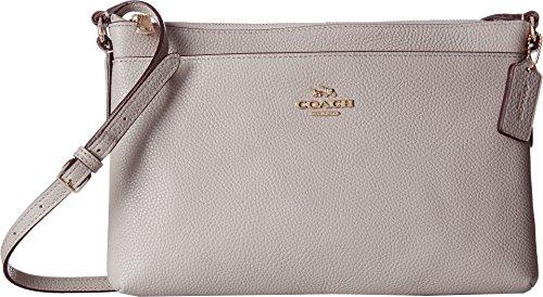 COACH Women's Polished Pebble Journal Crossbody Li/Grey Birch One - Grey Coach
