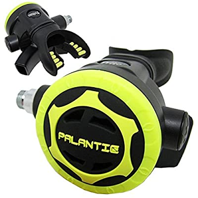 Scuba Choice Scuba Diving Palantic AS206 Black/Yellow Second Stage Regulator Octopus