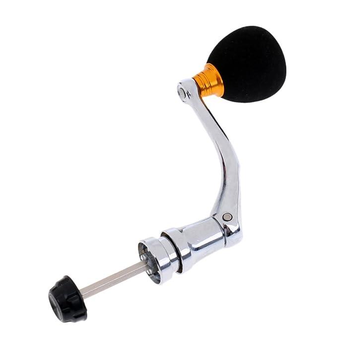 1 Stück Ersatz Angelrolle Griff mit Knopf Vollmetall CNC Griff Kipphebel