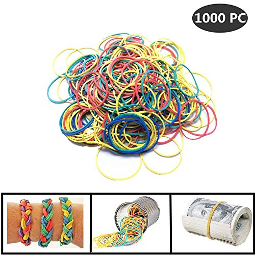 1000 Pc Rubber Bands General Purpose Rubber Bands for Home or Office use -