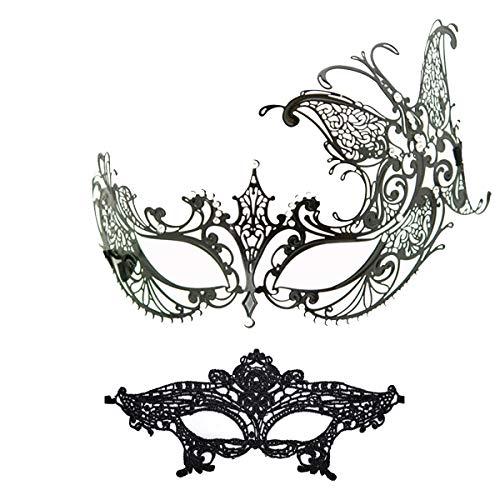 Masquerade Mask Women Shiny Rhinestone Venetian Party Prom Ball Metal Mask (Ana Butterfly) ()