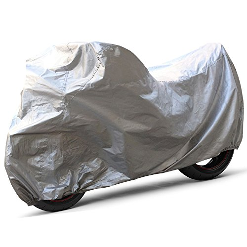 - OxGord Solar-Tech Reflective Motorcycle Cover - 100% Sun-Proof - Ready-Fit / Semi Custom - Fits up to 97 Inches