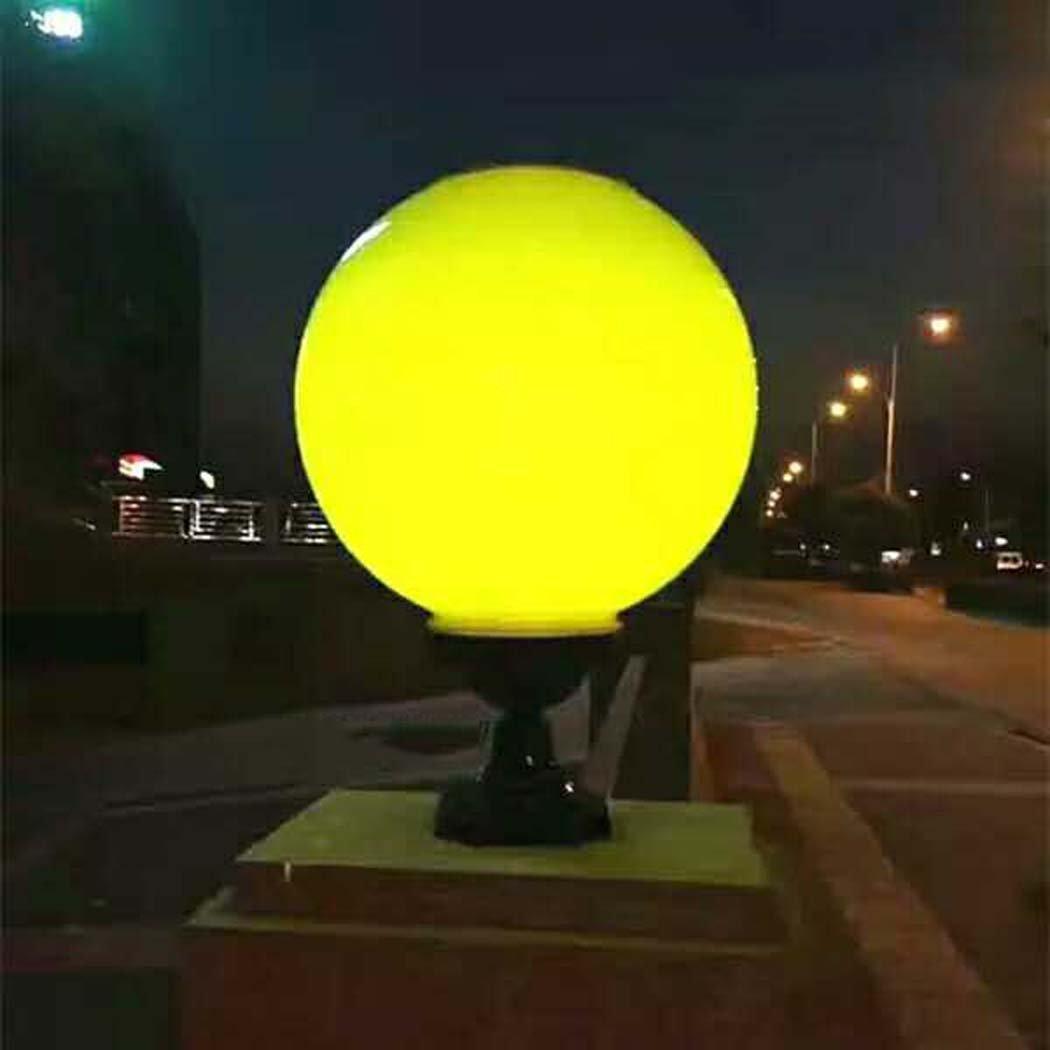 Solar Light, LED Lighting Garden Light Super Bright, Outdoor Garden Landscape Solar Column Lamp, Orb (Color : Yellow)