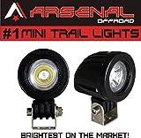 #1 Mini Trail Lights by Arsenal Offroad 20W CREE LED Spot Motorcycle Offroad Dual Sport Enduro Fog Trail Head Light for Xr DRZ EXC Dirt Bike Dual Sport KTM