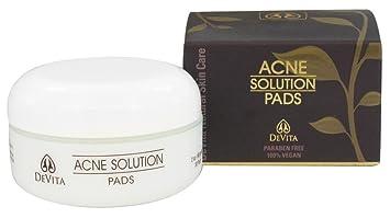 Devita Acne Solution Pads, 2 OZ Equate Beauty Oil-Free Acne Wash, 12 Fl Oz