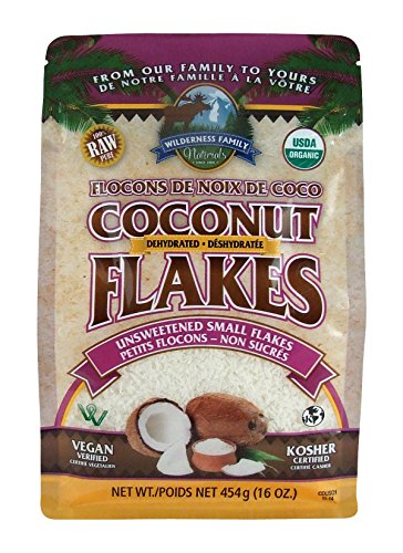 Wilderness Family Naturals Small Coconut Flakes 1 lb - Unsweetened, Certified Organic, Raw
