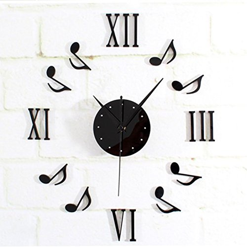 Wall Clock, Han Shi Wall Clock Wall DIY 3D Clock Stickers Waterproof Living Room Decoration DIY Large Wall Clock Home Office Decor Quartz Clock Alarm Clock - Sunglasses Thousand Dollar