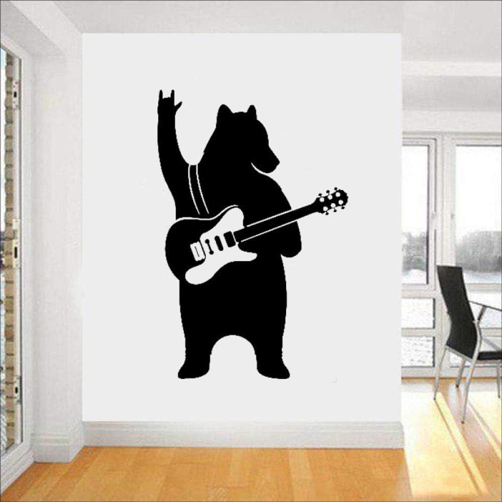 Oso con guitarra Tatuajes de pared Etiqueta de vinilo Música Arte ...