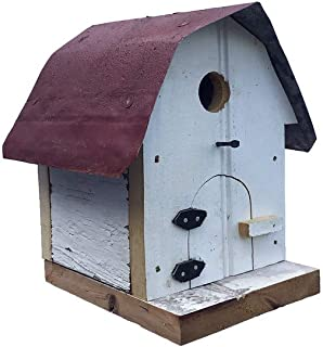 product image for Hip Roof Barn Bird House with Wire Hanger & Clean Out