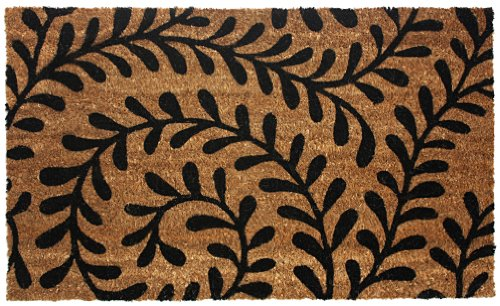 Fashion Mat (J & M Home Fashions Vinyl Back Coco Doormat, 18 by 30-Inch, Black)