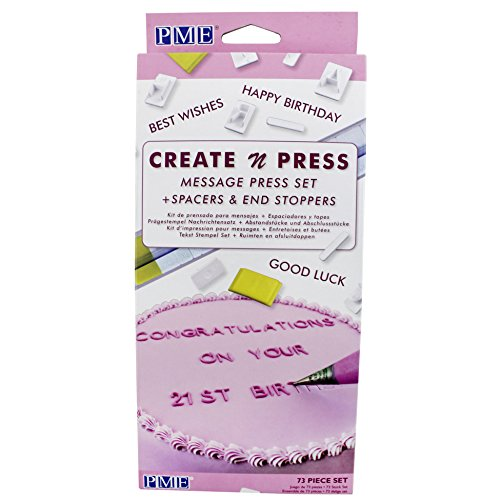 PME CP302 Create N Message Press Set of 75 Cutter, White