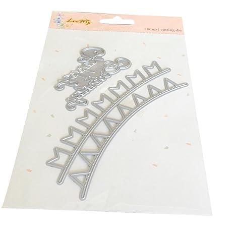 BONJIU DIY Plantillas de corte de metal en relieve de acero al ...