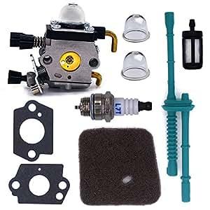fitbest carburador Kit de línea de combustible con filtro de aire para Stihl FS38FS45FS46FS55FS74FS75FS76FS80KM85tijeras y cortadores
