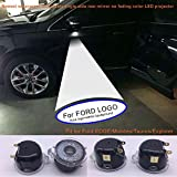 ford edge logo - 2pcs set Side rear view mirror projector ghost shadow puddle logo light for Ford Edge Expedition Explorer FLEX Fusion Taurus-no fading color plug and play (From FBA)
