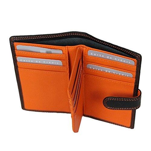 et cartes couleurs Porte bi 8337 tickets Orange Noir Texier cuir AEnqwWU7wZ