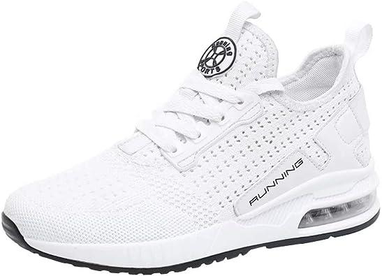 Zapatillas de Deporte Transpirables para Hombres Zapatillas Deportivas para Mujer Running Correr en Asfalto Sneakers: Amazon.es: Zapatos y complementos