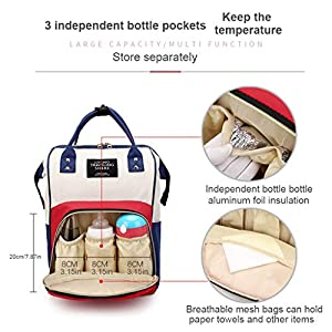 Baby Changing Bag Backpack, Diaper Nappy Backpack Rucksack, Hospital Maternity Bags, Multi-Function & Large Capacity…