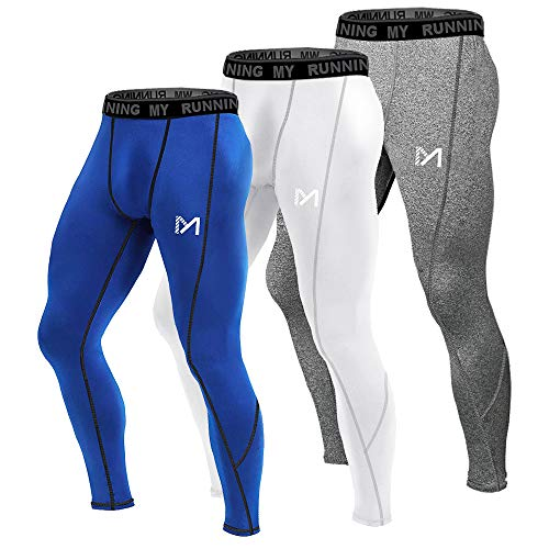 - MEETYOO Men's Compression Pants, Cool Dry Long Base Layer Leggings, Sport Fitness Underwear Tights (3pcs-D, Large)