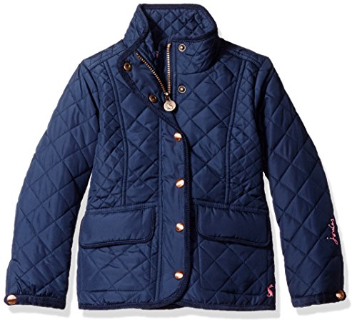 Joules Little Girls' Newdale Quilted Coat, French Navy, 6 by Joules
