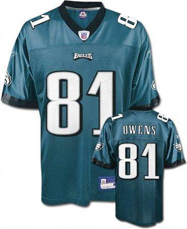 Terrell Owens Green Reebok NFL Replica Philadelphia Eagles Youth Jersey - Large (Reebok Philadelphia Eagles Shirt)