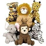 Fun Express Assortment Suede Jungle Animal (Set of 12)