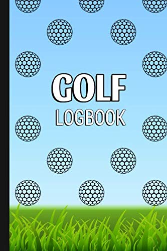 GOLF Logbook: Journal and notebook for golfers with templates for Game Scores, Performance Tracking, Golf Stat Log, Event Stats | motive: golf ball abstract