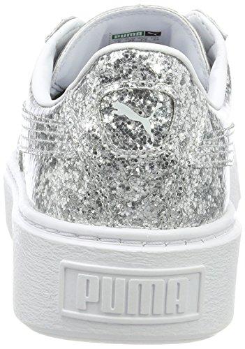 Basse Scarpe Silver Basket da silver Donna Platformglitter Grigio Puma Ginnastica gXq6p