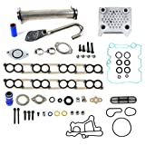 Upgraded High Flow Oil Cooler Kit & EGR Delete Kit w/ Gaskets Ford 6.0L Diesel