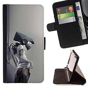 Momo Phone Case / Flip Funda de Cuero Case Cover - Robot Cyborg;;;;;;;; - LG Nexus 5 D820 D821