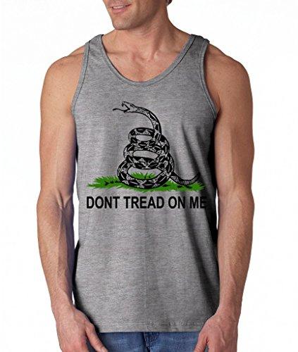 Don't Tread On Me Tea Party Flag Men's Tank Top Gadsden Flag Tank Tops Medium Sports Grey sl1