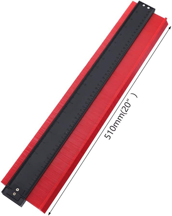 Vert Deng Xuna 20 Pouces ABS Jauge de Contour en Plastique Copie Duplicator Circulaire Cadre de profil/és Gauge Outil pour Outil de Marquage du Bois pour minage de Mesures Pr/écises