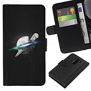 JackGot ( Psychedelic Luna Espacio ) LG G3 la tarjeta de Crédito Slots PU Funda de cuero Monedero caso cubierta de piel