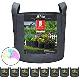 Best Grow Pots - JERIA 8-Pack 3 Gallon Grow Bags, Aeration Fabric Review