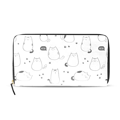 Amazon.com: Carteras con cremallera para gatos, color blanco ...