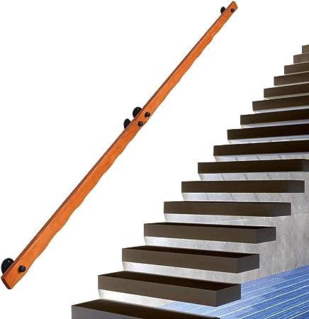 Rieles de Escalera Varilla de Soporte de Madera con Soportes de Pared y Tornillos de Metal, 50~600 cm de Longitud Opcional, apoyabrazos de Seguridad Interna Pasamanos para Cocina de baño de Puerta: