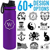 Tempercraft 22oz Vacuum Insulated Sport Bottle Custom Engraved, Purple Deal (Small Image)