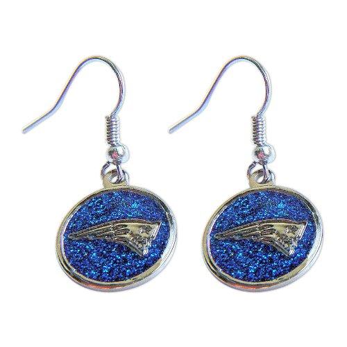 New England Patriots Glitter Sparkle Dangle Logo Earring Set Charm Gift