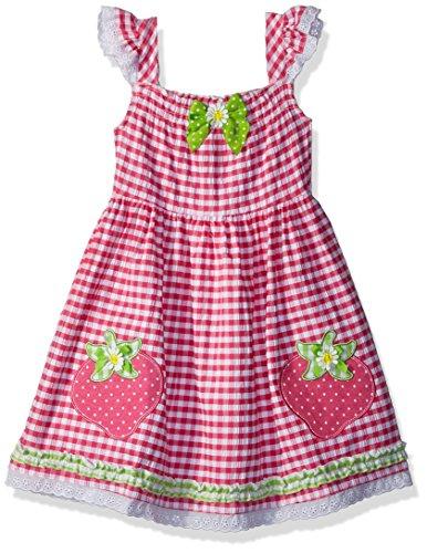 Nannette Girls' Toddler' seer Sucker Dress, Pink, 2T -