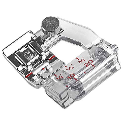 DREAMSTITCH 4129850-45 Adjustable Bias Binder Presser Foot for Husqvarna Viking Sewing Machine Group D,1,2,3,4,5,6,7-4129850-45