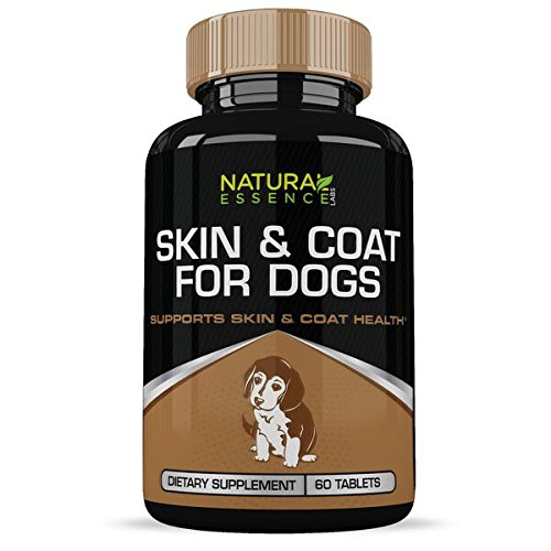 Dog Supplements : Supports Skin & Coat Health :: Contains All-Natural Ingredients:: Designed for Large and Small Canines :: 60 Tablets per Bottle :: Natural Essence Labs -