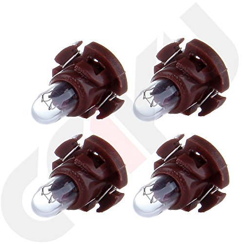 SCITOO 4Pcs T4.2 Neo Wedge Halogen Light Bulbs Instrument Gauge Cluster Light Bulbs for A/C Climate Control Light