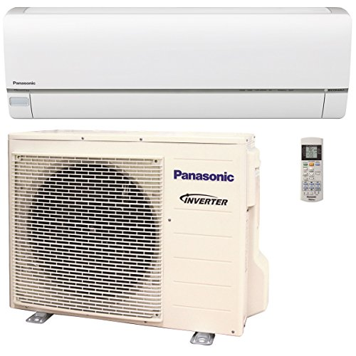 Panasonic Exterios XE 12,000 BTU Ductless Mini Split Air Conditioning and Heating System, Indoor and Outdoor Set with Wireless Remote (208/230V) (Panasonic Mini Split)