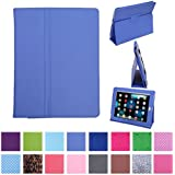 HDE iPad 1 Case - Slim Fit Leather Cover Stand Folio with Magnetic Closure for Apple iPad 1 1st Generation (Periwinkle)