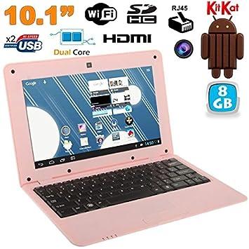 Mini PC Android 4.4 Netbook Ultra Portable 10 Pulgadas WiFi 8 GB Rosa: Amazon.es: Informática