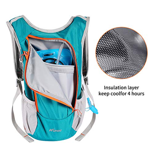7050e16446 KUYOU Hydration Pack,Hydration Backpack with 2L Hydration Bladder  Lightweight Insulation Water Pack for Running