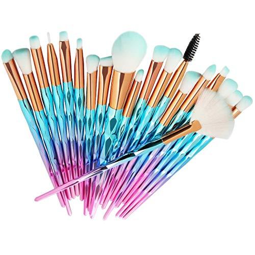 ierkag 20 Pcs/Set Makeup Brush Set Eyeshadow Brushes Beauty Cosmetic Brush Tools Kit