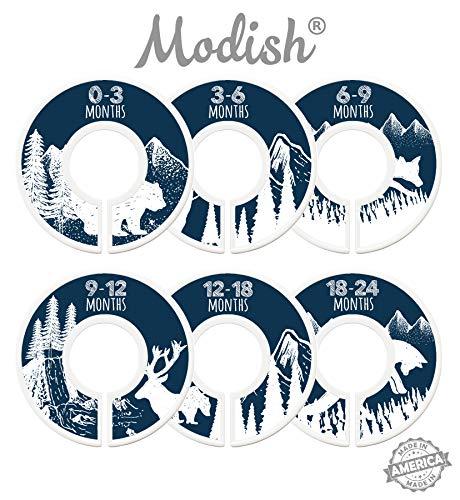Modish Labels Baby Nursery Closet Dividers, Closet Organizers, Nursery Decor, Baby Boy, Woodland, Tribal, Woodland Animals, Bear, Fox, Deer, Navy, Blue, Navy Blue, White (Navy)