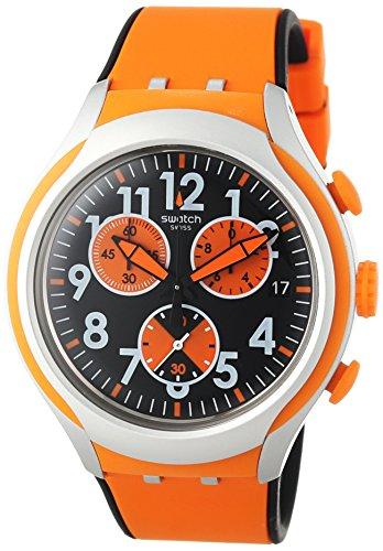 Swatch Men's YYS4003 Irony Analog Display Swiss Quartz Orange - Orange Swatch
