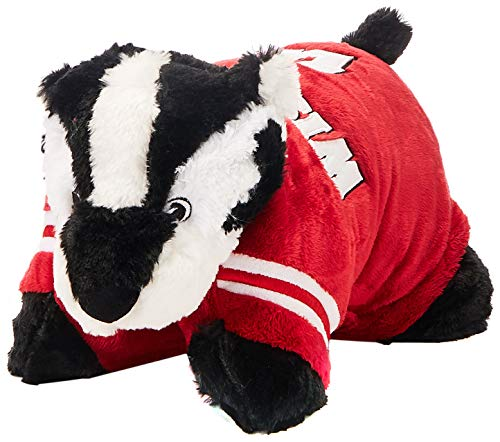- Fabrique Innovations NCAA Pillow Pet, Wisconsin Badgers